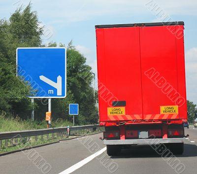 big red lorry