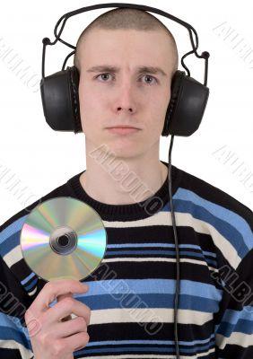 Man in ear-phones