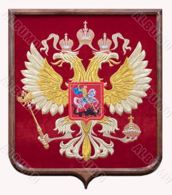 Two-headed eagle, the arms of the Russia