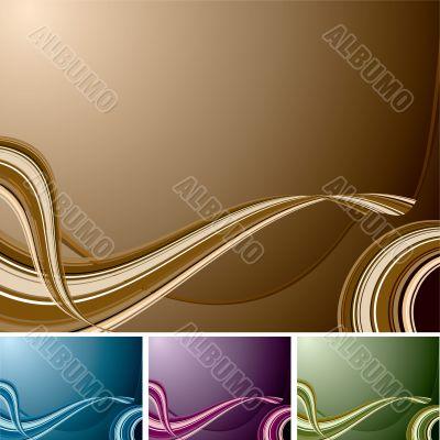 quad swirl background