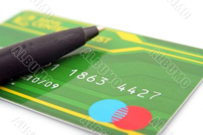 pen and creditcard