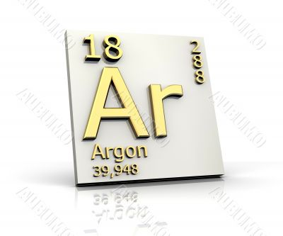 Argon form Periodic Table of Elements