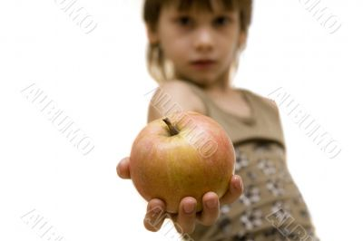 I give you this beautiful apple