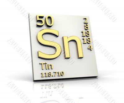 Tin form Periodic Table of Elements