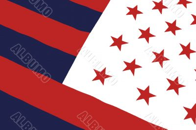 fake american flag