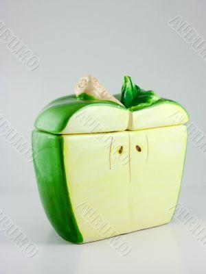 Apple styled sugar bowl