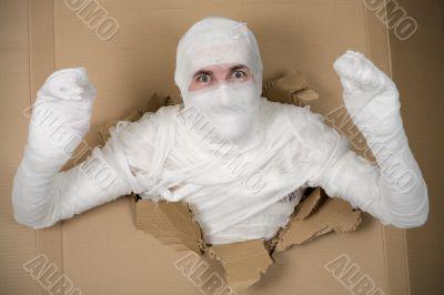 Man in costume mummy