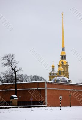 Peter and Paul Fortress in the winter