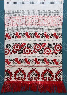 ukrainian color knitted textile
