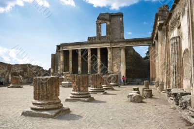 Ancient ruins in Pompeii