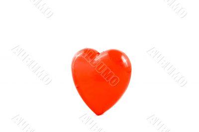 red valentine heart on white