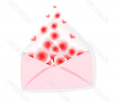 Card for St. Valentine`s day