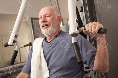 Senior Adult Man in the Gym