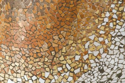 Detail of the ceramics from the Casa Batllo in Barcelona, Spain. Architect Antonio Gaudi