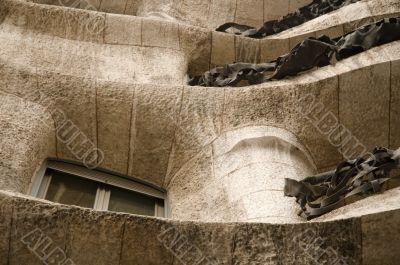 modernist house by antonio gaudi - la padrera. detail