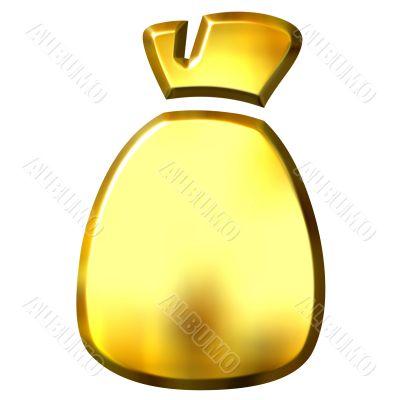 3D Golden Sack
