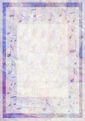 background color viola  with musical notes