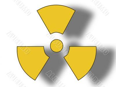 Danger radioactive sign.