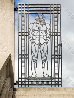 Metal lattice of a gate