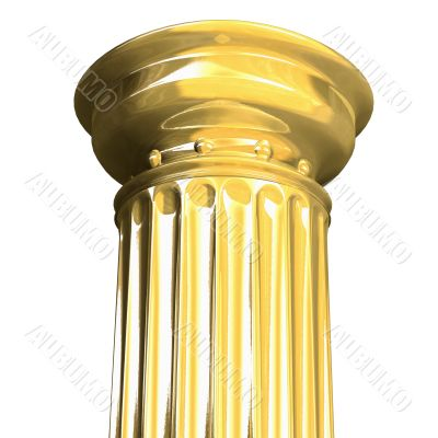 3d rendered from a part of a gold column