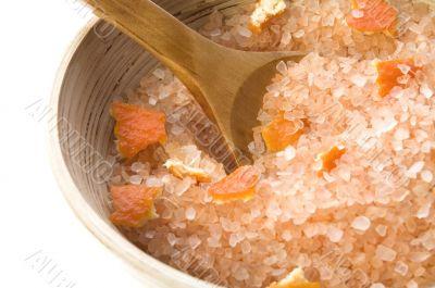 orange salt. sweet aroma bath