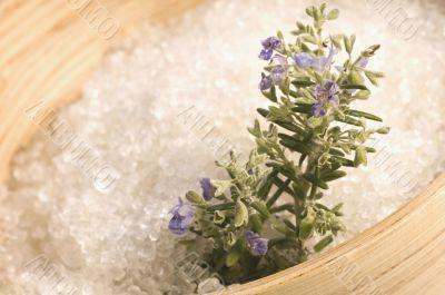 rosemary salt. aroma bath