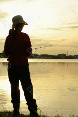 Angler at dawn