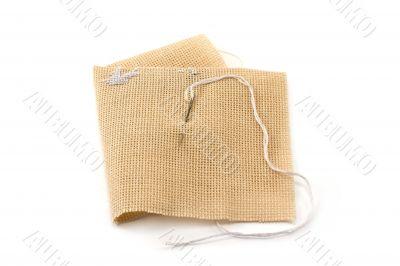 Fabrics, flax, needle with threa