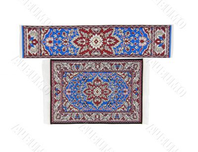 Intricate rug and runner