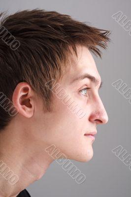 Profile. Beautiful man.