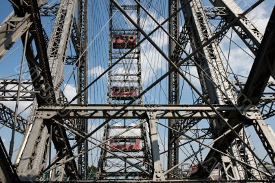 Detail of observation wheel in amusement park
