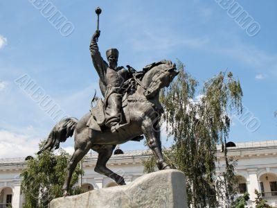 Equestrian statue of hetman Sahaidachny in Kiev
