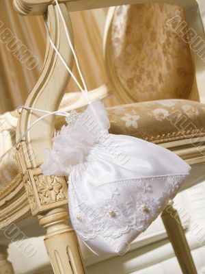 Wedding handbag of the bride