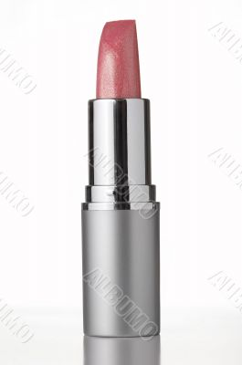 pink lipstick on white background