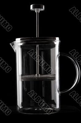 French-press in black background_1