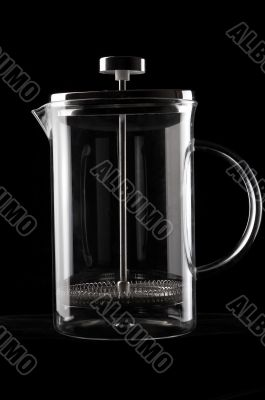 French-press in black background_2