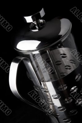 French-press in black background_6