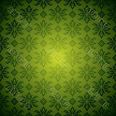 green wallpaper tile