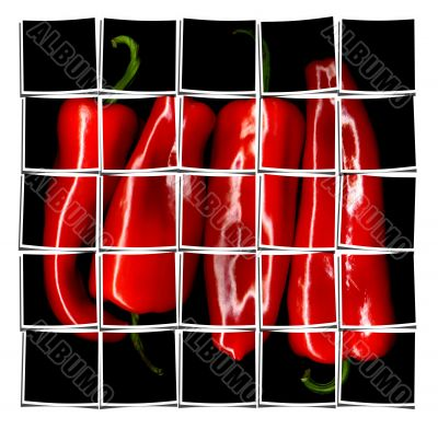 red paprika collage