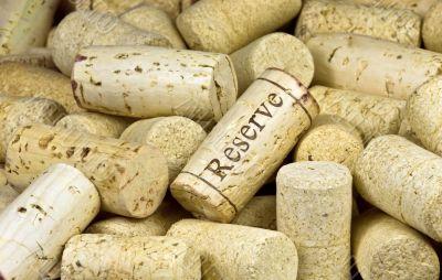 pile of wine corks close-up