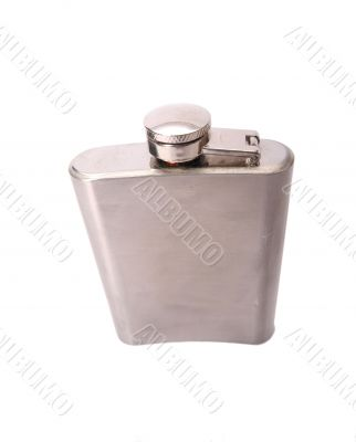 flask in isolated white