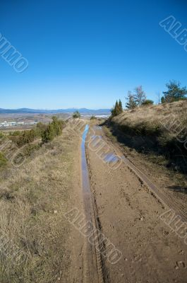 mud path with track