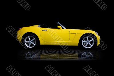 Yellow sport car