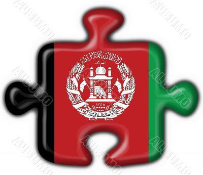 afghanistan button flag puzzle shape