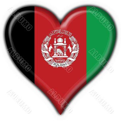 afghanistan button flag heart shape