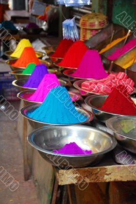 Color powder for Holi Festival