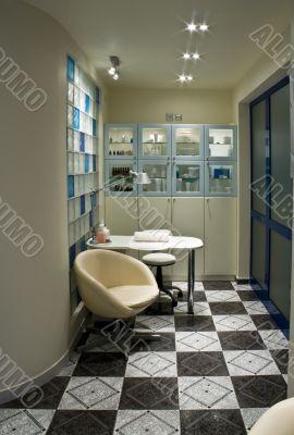 Interior od beauty parlour