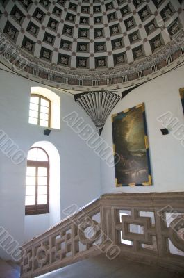 decorated ancient hall