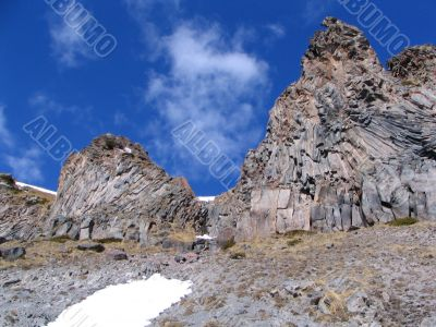 Hardening ancient lava stream