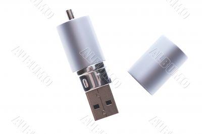 USB Flash memory on white